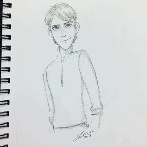 Jim pencil sketch. 2018.