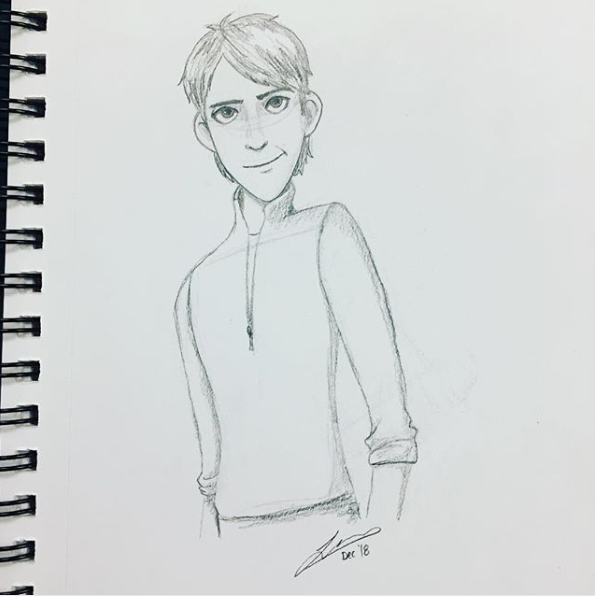 Jim pencil sketch. 2018.
