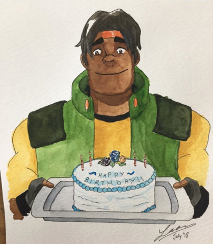 Hunk watercolour. 2018.