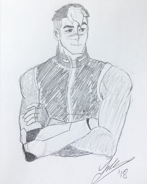 Shiro pencil sketch. 2018.