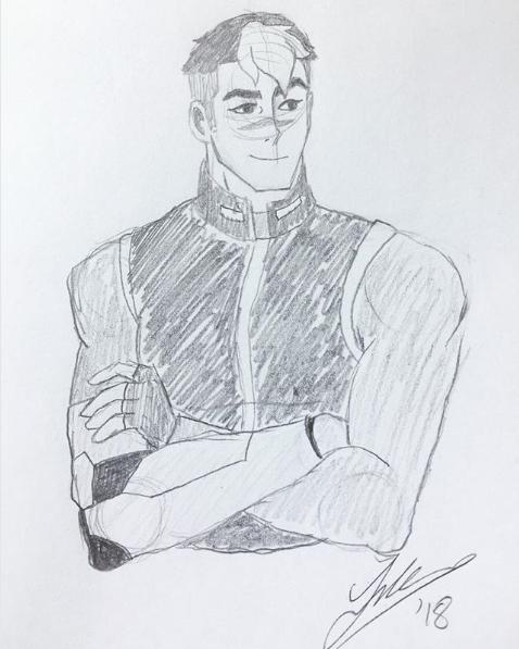 Shiro pencil sketch. 2018.
