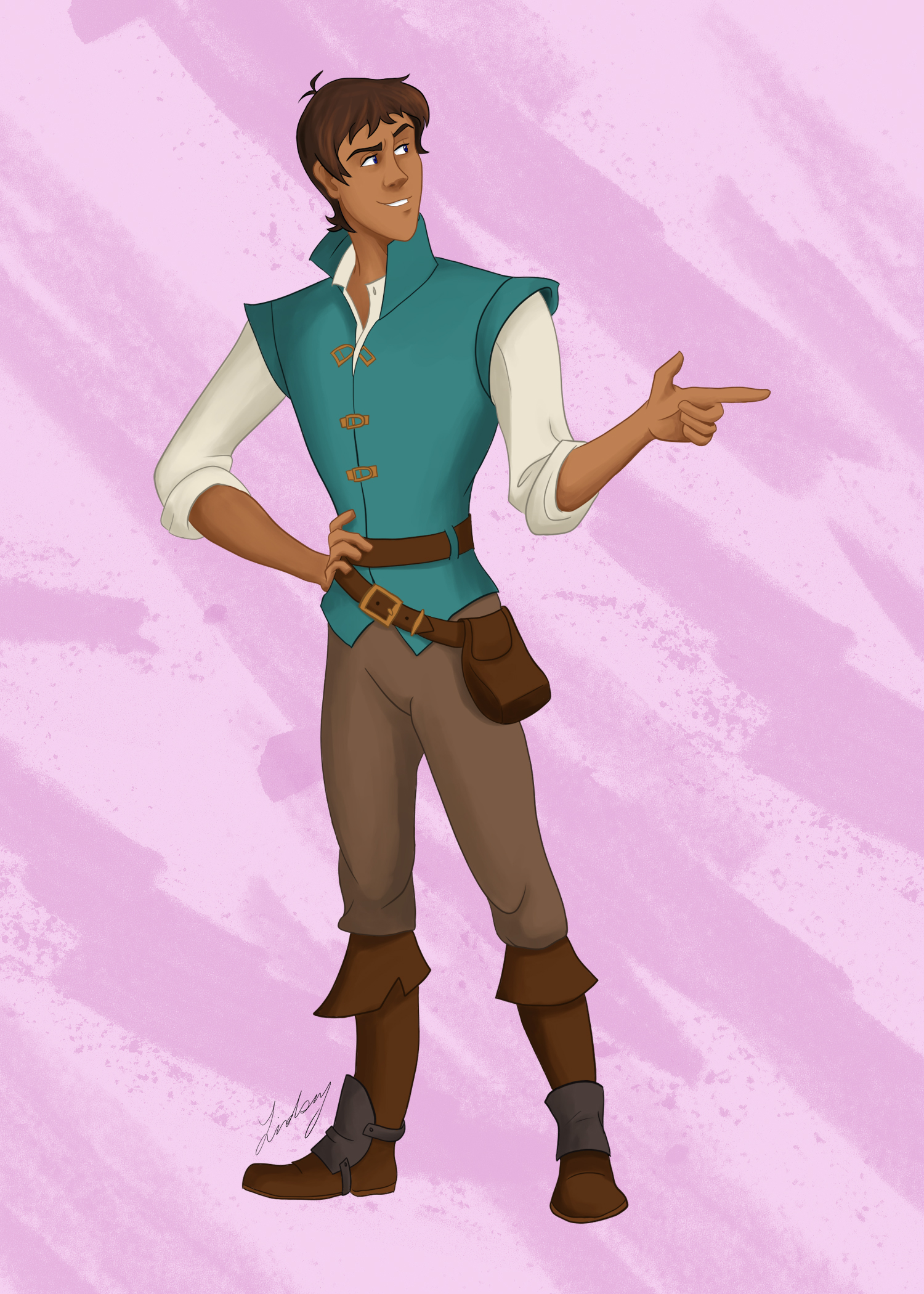 Lance as Flynn digital painting. 2019.