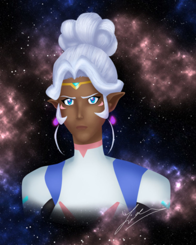 Allura digital painting. 2017.