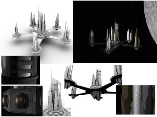 Space castle model