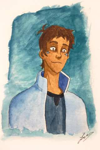Lance watercolour. 2019.