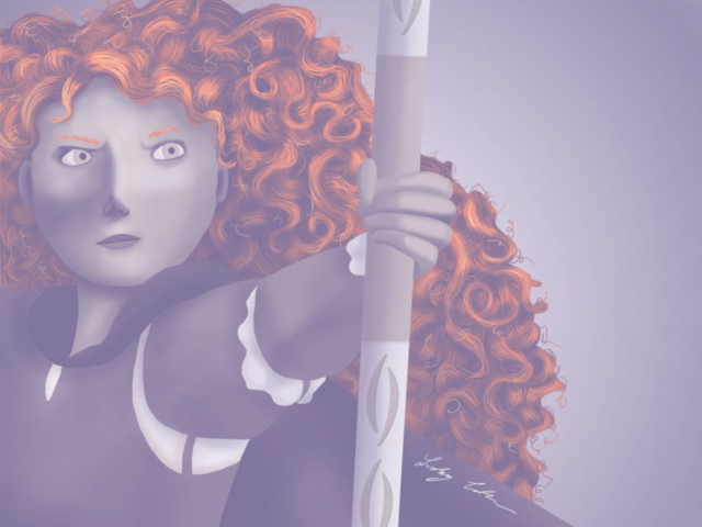 Merida from Brave digital painting. 2017.