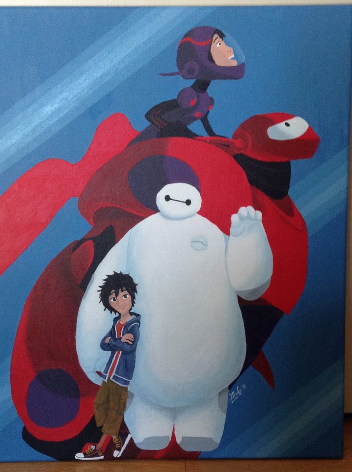 Big Hero 6 acrylic painting. 2016.