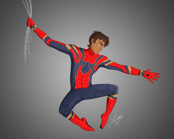Lance as Spider-Man. 2019.