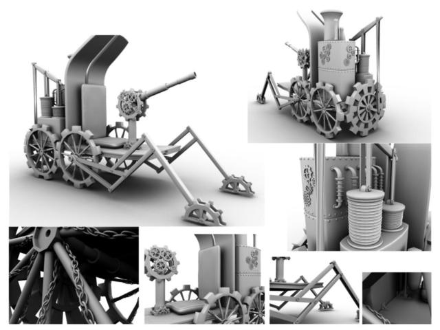 Steampunk war machine